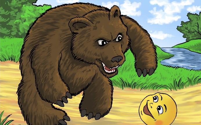 картинка медведя из сказки колобок