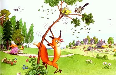 Лиса и дрозд