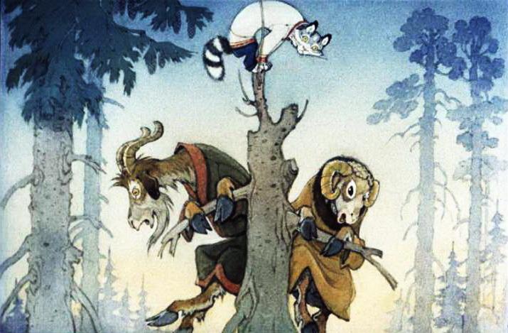 Кот - серый лоб, козёл и баран 6