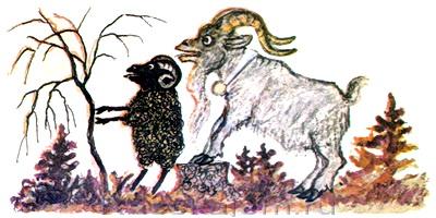 Козёл и баран